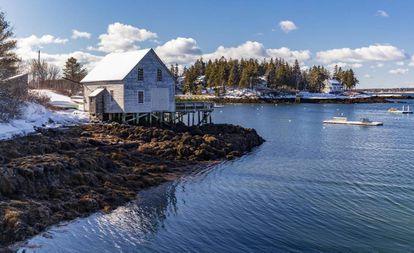 Paisaje costero en la localidad de Boothbay Harbor (Maine).