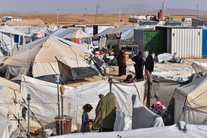 Anexo de las extranjeras del campo Al Hol en el noreste de Siria.