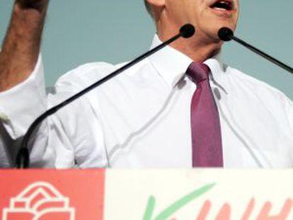 Papandreu este jueves en la plaza Kotzia de Atenas.