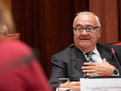 Josep Prat, en la comisión del Parlament sobre irregularidades en la sanidad.