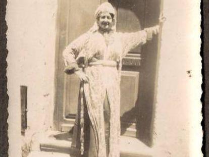 Paquita a su llegada a Rabat en 1939.