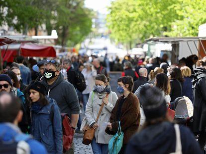 Imagen de un mercadillo el sábado en Berlín.