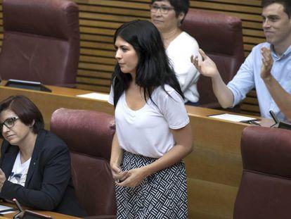 Naiara Davó, portavoz de Unides Podem en las Cortes Valencianas.