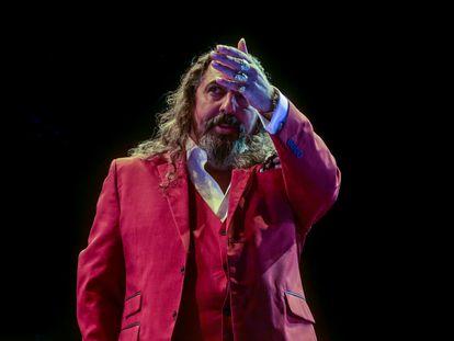 Diego 'El Cigala', durante su concierto en Madrid el pasado 23 de julio.