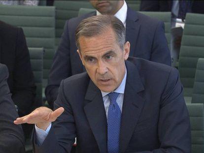 Mark Carney, en una comparecencia en el Parlamento británico.