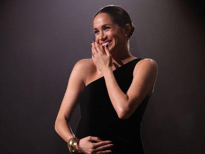 Meghan Markle durante la entrega de premios de la moda británica el pasado lunes en Londres.