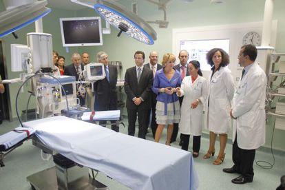 Esperanza Aguirre, expresidenta de la Comunidad de Madrid, inauguró el hospital de Torrejón en 2011.