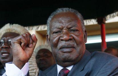 El nuevo presidente de Zambia, Michael Sata, durante su toma de posesión en Lusaka, el 23 de septiembre.
