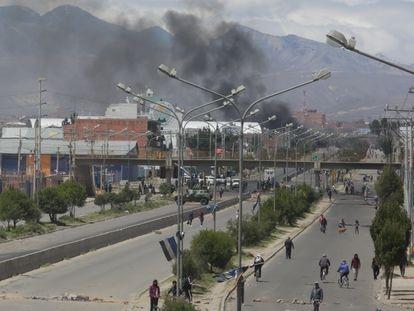 Las protestas en El Alto, en Bolivia, ocurridas en noviembre de 2019.