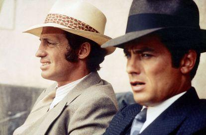 Jean-Paul Belmondo y Alain Delon, en 'Borsalino'.