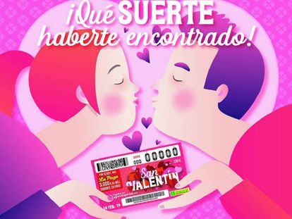 Imagen promocional del sorteo de la ONCE de San Valentín.