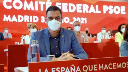 Pedro Sánchez, el pasado sábado durante la reunión del Comité Federal del PSOE.