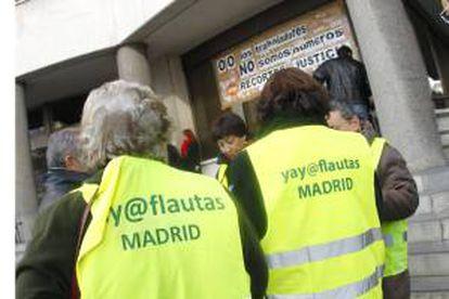 Imagen de archivo de una protesta de yayoflautas. EFE/Archivo