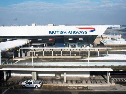 Terminal de British Airways en el aeropuerto JFK de Nueva York.