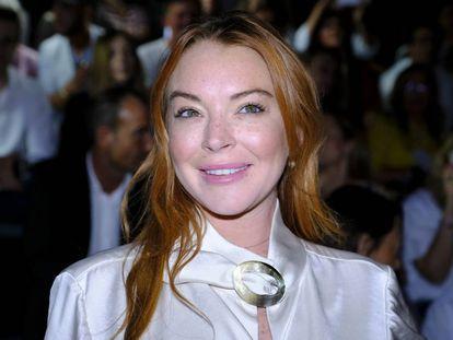 Lindsay Lohan en Madrid en septiembre de 2017, cuando acudió a la capital española como invitada de la Semana de la Moda.