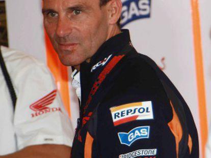 Alberto Puig, expiloto y mánager de Pedrosa.