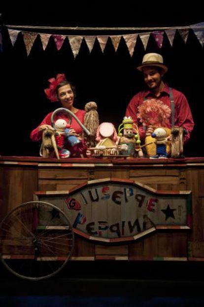 Los protagonistas de la obra 'Giuseppe y Peppina', de la compañía El Retablo.