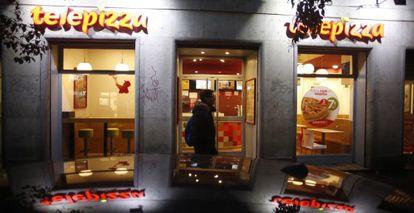 Un local de Telepizza en Madrid.