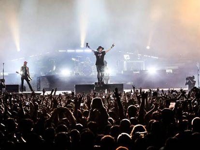 Los Guns N' Roses durante su concierto en México