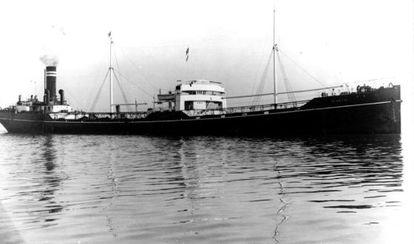 El petroléro Woodford de la compañía Hellenic Tramp SS.