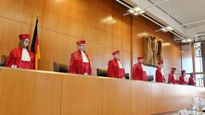 Jueces del Tribunal Constitucional alemán, en Karlsruhe.