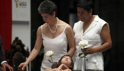 Una de las primeras bodas gais en México DF en 2010.