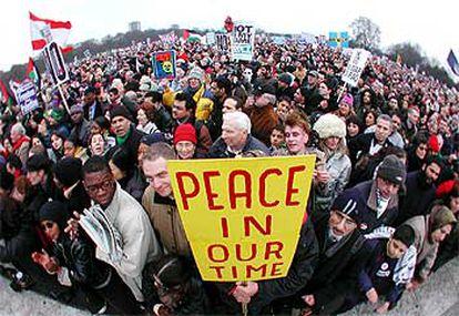 La manifestación de Londres, la mayor celebrada en la ciudad desde la guerra de Vietnam, ha reunido a más de medio millón de personas.