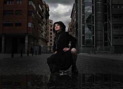 Ana Curra, in Madrid's Plaza de Dalí, on April 22.