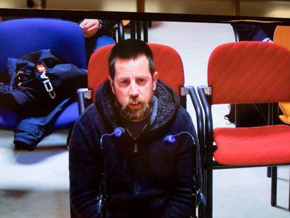José Enrique Abuín Gey, 'El Chicle', durante el juicio de abril por el rapto de una mujer en Boiro (A Coruña).
