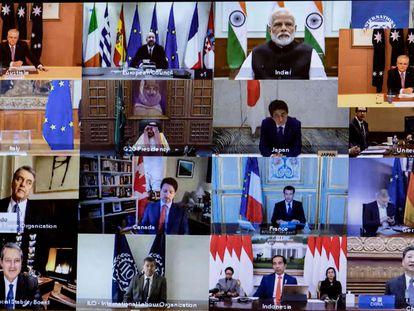 Líderes de las principales economías mundiales celebraron una cumbre en línea el pasado 26 de marzo.