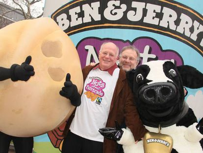 Ben Cohen and Jerry Greenfield, fundadores de la empresa, en Londres en 2010.