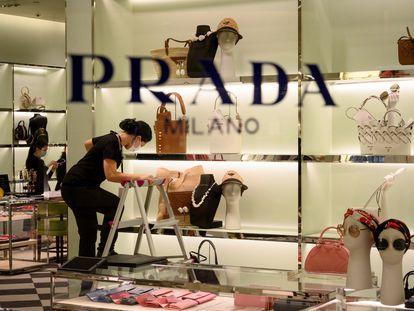 Una tienda de Prada.