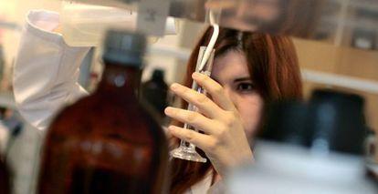 Laboratorio de la facultad de Farmacia de Santiago de Compostela.