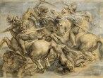 Interpretación de Pedro Pablo Rubens de 'La batalla de  Anghiari' realizada a principios del siglo XVIIl a partir de copias del boceto oritinal. Es la reproducción más conocida  y se encuentra en el Museo del Louvre de París.