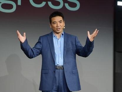 El empresario chino Eric Yuan, en San Francisco, California, el pasado septiembre.