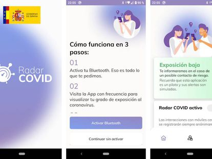 Radar Covid, la 'app' del Gobierno de España.