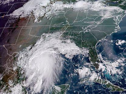 Imagen satelital de la tormenta tropical 'Nicholas'.