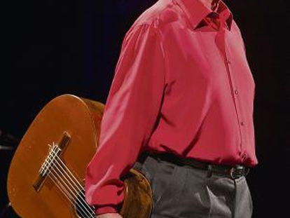 Raimon en el Liceu en el aniversario de su primer concierto en Barcelona.
