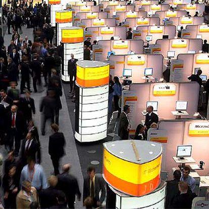 Feria de tecnología Cebit en Hannover (Alemania).