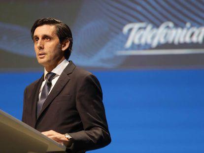 El presidente de Telefónica, José María Álvarez-Pallete,