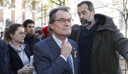 El expresident de la Generalitat, Artur Mas en el Tribunal Supremo.