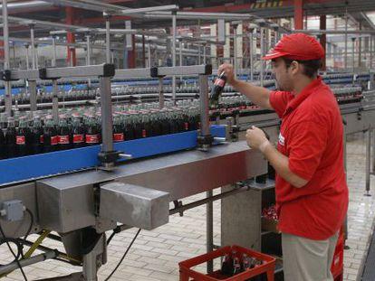 Planta de embotellamiento de Coca-Cola en Fuenlabrada (Madrid).