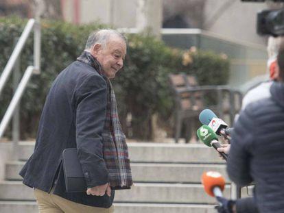 El comisario Eugenio Pino entra en la Audiencia Nacional en enero de 2019 para declarar como imputado en el 'caso Kitchen'.