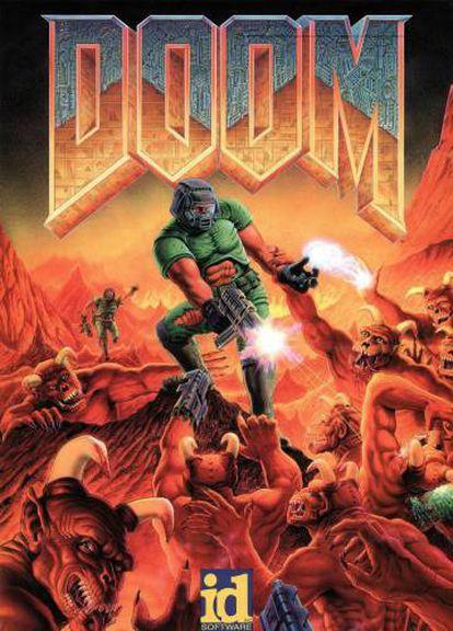 Portada original del primer 'DOOM' publicado en 1993.