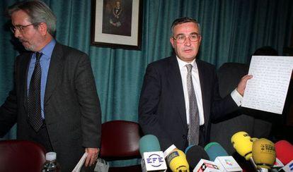 Martínez-Vares en 1999, cuando era presidente de la APM.