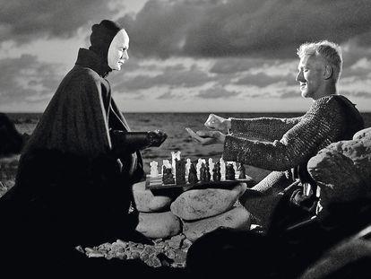 El séptimo sello, de Bergman, una de esas partidas que todos seguimos con cara de Akiba Rubinstein.