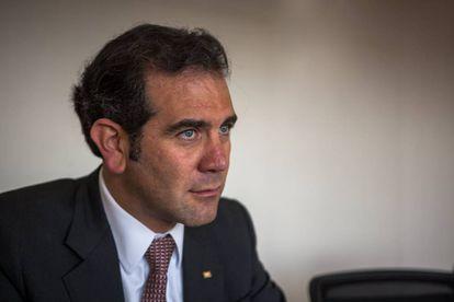 Lorenzo Córdova, presidente del INE, durante la entrevista.