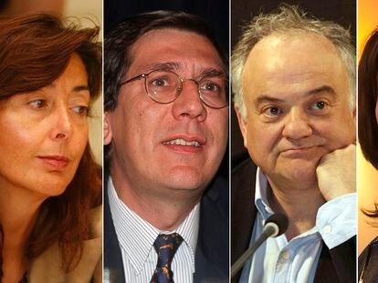 Concepción Espejel, Enrique Arnaldo Alcubilla, Ramón Saez Valcárcel e Inmaculada Montalbán.