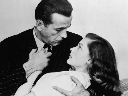 Humphrey Bogart con Lauren Bacall.