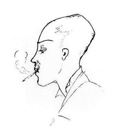 Rimbaud después de cortarse el pelo a cero, retratado por Ernest Delahave a principios de 1876